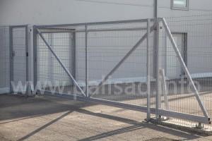 Металлические откатные ворота